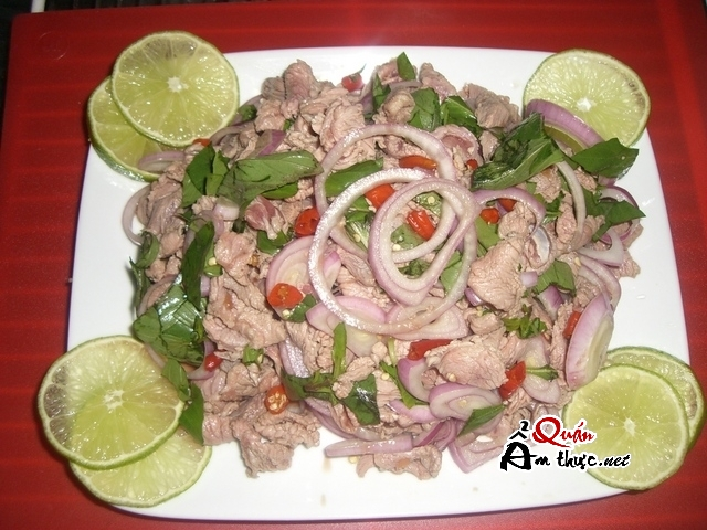 Bo tai chanh 2 Bò tái chanh ăn chơi cũng ngon, ăn cơm cũng thích