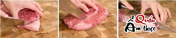Thái thịt bò làm bít tết