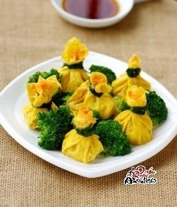 trung-boc-nam Trứng bọc gà, món ăn hấp dẫn cho ngày cuối tuần
