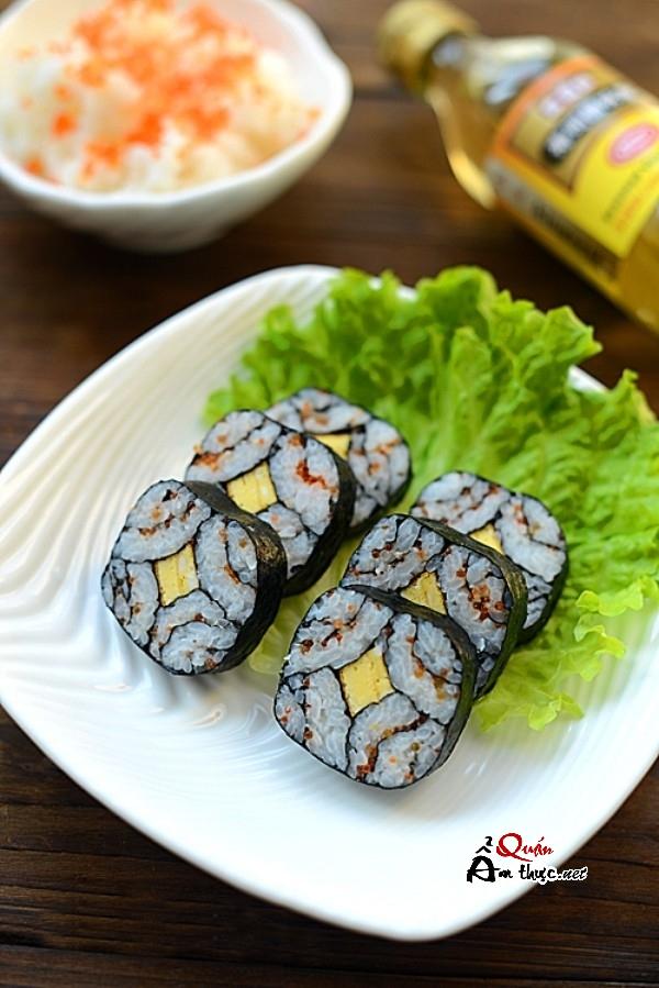cách làm sushi tại nhà đơn giản 7