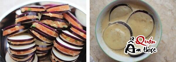 Cách làm cà tím kẹp thịt chiên giòn ngon hấp dẫn cho bữa cơm cuối tuần - Bước 3.
