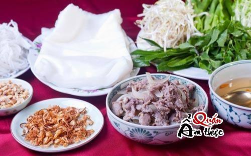 Hướng dẫn cách làm món phở cuốn thịt bò