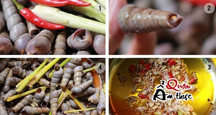 cách làm ốc xào sả ớt 2
