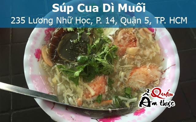 Quán súp cua ngon ở Sài Gòn