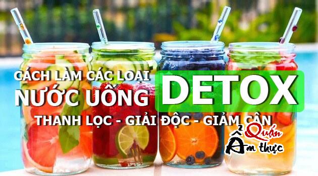 Cách làm các loại nước uống Detox