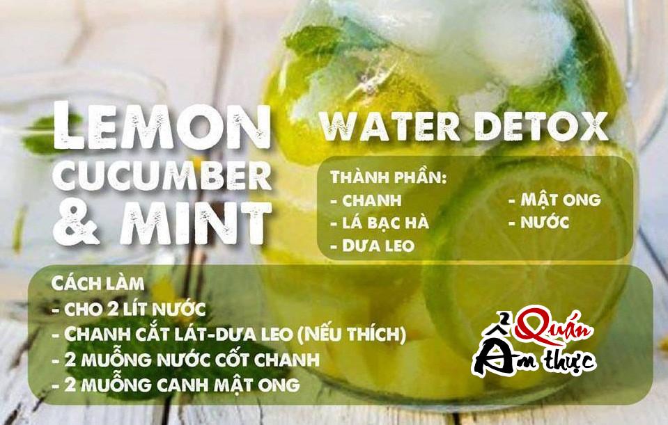 cac-loai-nuoc-uong-detox Cách làm các loại nước uống Detox giải độc, giảm cân