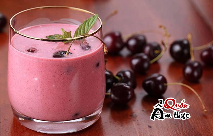 Cách làm sinh tố Cherry ngon