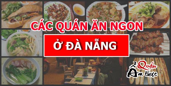 Địa chỉ các quán ăn ngon ở Đà Nẵng