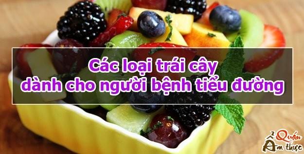 Các trái cây dành cho người bệnh tiểu đường