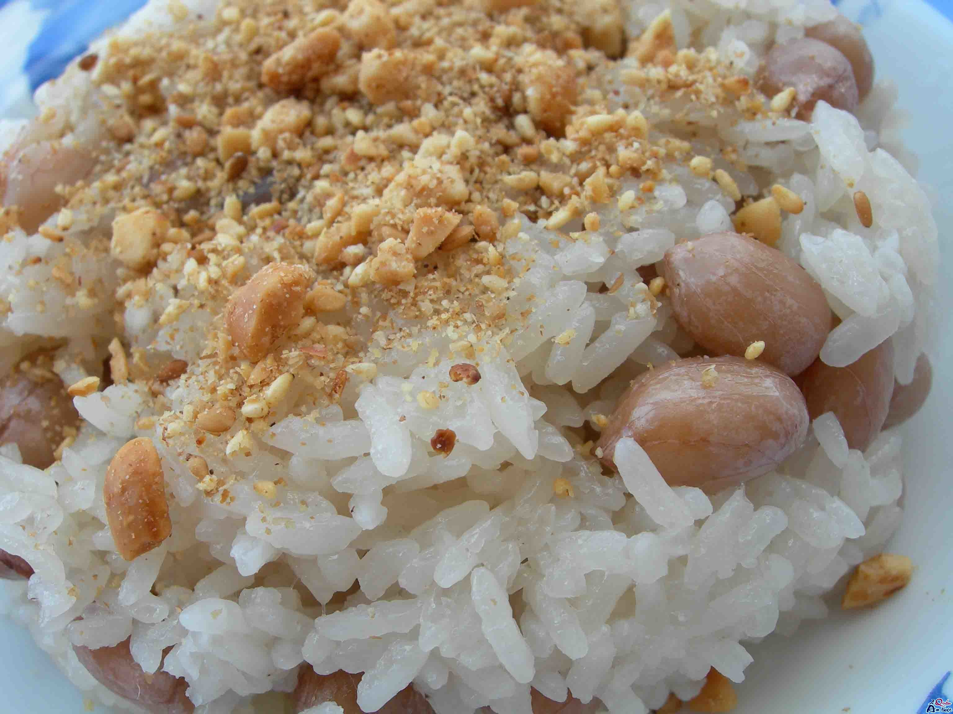 xoi-dau-phong Cách nấu xôi đậu phộng ngon bằng nồi cơm điện