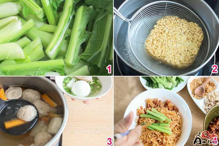 Cách làm mì trộn trứng lòng đào ngon 2