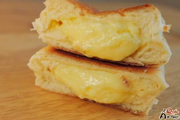 Cách làm bánh mì ngọt nhân sữa bằng chảo không dính