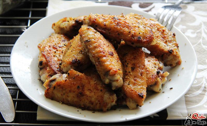 Cách làm cánh gà chiên muối tiêu