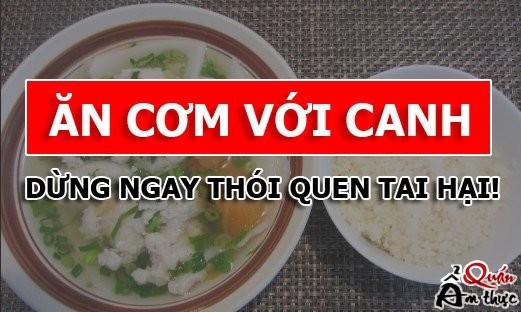Tác hại của việc ăn cơm với canh 2