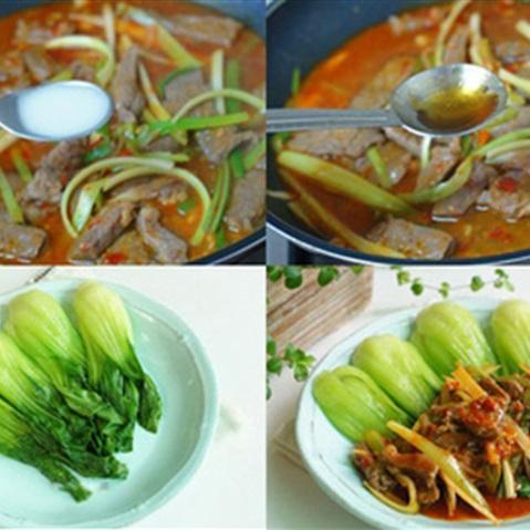 thit-bo-xao-cai-thia-1 Cách làm thịt bò xào cải thìa ngon & bổ dưỡng