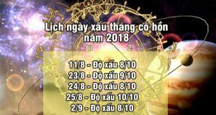 Lịch ngày xấu tháng cô hồn năm 2018